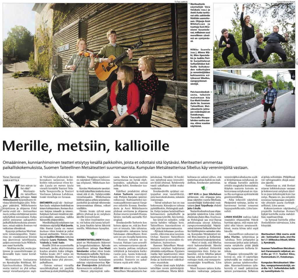 Turun Sanomat 7.6.2015